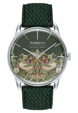 August Berg - UHR MORRIS & CO SILVER GREEN PERLON 38MM - Montre - fennel