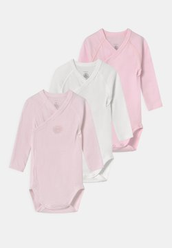 Petit Bateau - NAISS 3 PACK - Body - white/pink