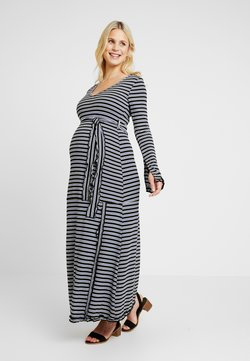Gebe - DRESS SERLINA - Jerseyjurk - sax/ecru/black
