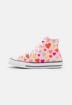 Converse - CHUCK TAYLOR ALL STAR HEARTS  - Zapatillas altas - storm pink/natural ivory/white
