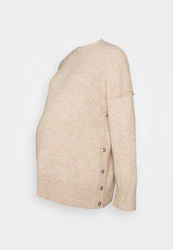 Cotton On - MATERNITY  SIDE BUTTON PULLOVR - Jersey de punto - beige
