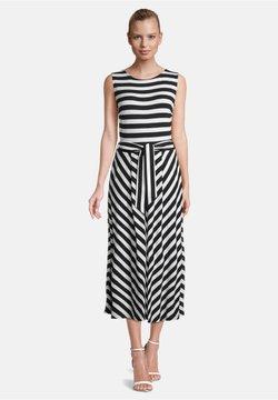 Betty & Co - MIT STREIFEN - Jerseykleid - schwarz/weiß