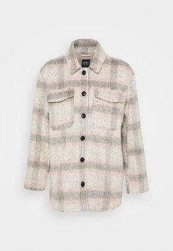 ONLY - ONLKAWI CHECK SHACKET - Manteau court - light grey melange/pink/grey