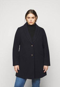 Dorothy Perkins Curve - MINIMAL SHAWL COLLARCROMBIE COAT - Short coat - navy