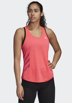 adidas Performance - OWN THE RUN 3-STRIPES PB TANK TOP - Top - pink