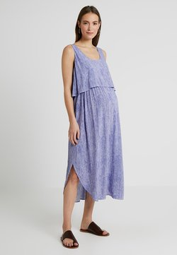 Ripe - STELLA STRIPE NURSING DRESS - Robe d'été - royal/white