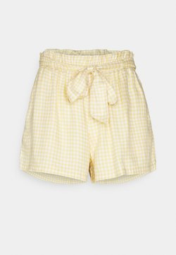 Hollister Co. - CHAIN SOFT - Shorts - yellow gingham