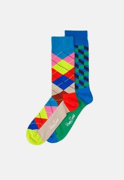 Happy Socks - FILLED OPTIC SOCK ARGYLE SOCK UNISEX 2 PACK - Socken - multi-coloured