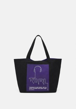 KARL LAGERFELD - VOICES MUSIC SHOPPER - Shoppingväska - purple