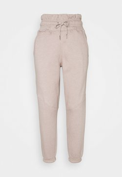Missguided Petite - PAPER BAG JOGGER - Jogginghose - sand