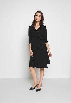 Cake Maternity - LONG SLEEVE WRAP DRESS - Vestido ligero - black