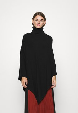 Vila - VIRIL ROLLNECK PONCHO  - Cape - black