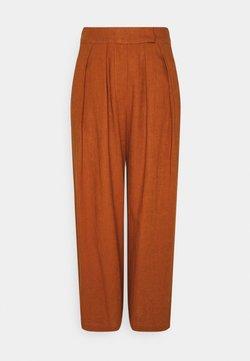 YAS - YASCARALA WIDE PANT - Trousers - caramel cafe