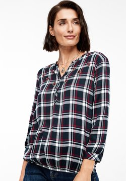 s.Oliver - 3/4 ARM - Bluse - navy check