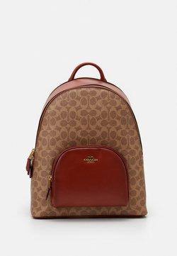 Coach - COATED SIGNATURE CARRIE BACKPACK - Reppu - tan/rust