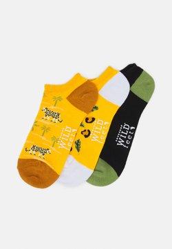 Wild Feet - LEOPARD TRAINER SOCKS 3 PACK - Socken - multi-coloured