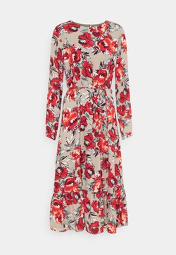 Vila - VIDOTTIES MIDI DRESS - Vestido largo - humus with red flowers