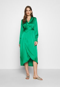 Never Fully Dressed - EMERALD WRAP DRESS - Cocktailjurk - green