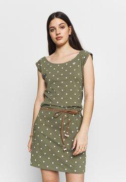Ragwear - TAG DOTS - Jerseykleid - olive
