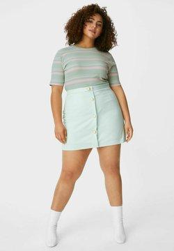 C&A - ARCHIVE - T-Shirt print - green / rose