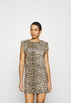 AllSaints - CONI DROPOUT DRESS - Jerseykleid - brown