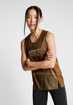 Nike Performance - ICON TANK - Funktionsshirt - wheat/club gold/black