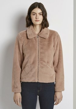 TOM TAILOR DENIM - Winterjacke - rose fake fur