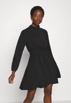 Vila - VIGORA TIE BELT HIGHNECK DRESS - Korte jurk - black