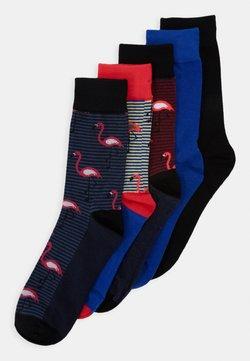 Jack & Jones - JACMIX OF ANIMALS SOCK 5 PACK - Socken - black/surf the web/diva pink