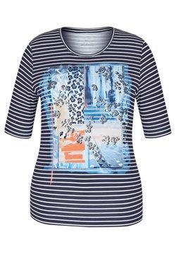 Rabe 1920 - MIT NIETEN UND GESTREIFTEM FRONT-PRINT - T-Shirt print - blau