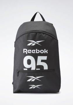 Reebok - WORKOUT READY FOLLOW GRAPHIC BACKPACK - Reppu - black