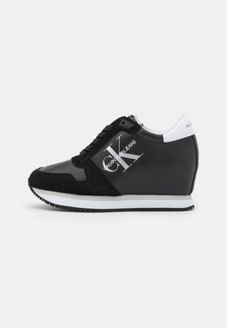 Calvin Klein Jeans - WEDGE LACEUP - Baskets basses - black