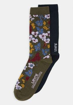 Levi's® - REGULAR CUT PECTOLITE FLOWER 2 PACK - Sokken - khaki