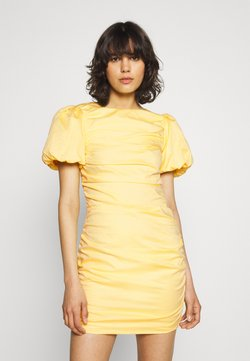 Nly by Nelly - THE CUTEST RUCHED DRESS - Cocktailkleid/festliches Kleid - light yellow