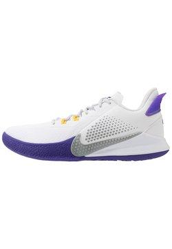 Nike Performance - MAMBA FURY - Basketball shoes - white/light smoke grey/field purple/amarillo