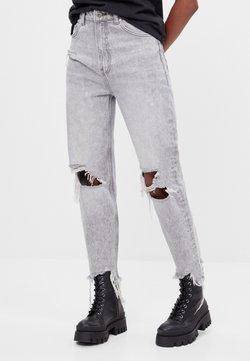 Bershka - Straight leg -farkut - grey