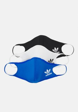 adidas Originals - FACE COVER SMALL UNISEX 3 PACK - Stoffen mondkapje - black/white/bluebird