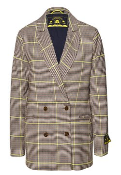 Scotch & Soda - DOUBLE BREASTED LONGER LENGTH IN SPECIAL CHECK - Blazer - yellow