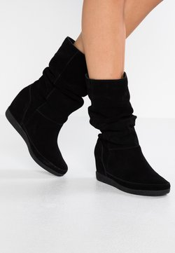 Shoe The Bear - EMMY SLOUCHY - Keilstiefel - black