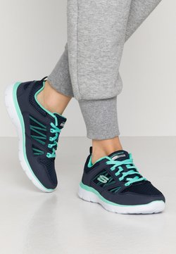 Skechers Wide Fit - SUMMITS WIDE FIT - Matalavartiset tennarit - navy/turquoise