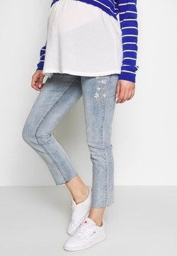 ohma! - MOM FIT WITH EMBROIDERY - Jeans a sigaretta - light indigo