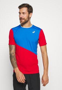 ASICS - CLUB TEE - T-Shirt print - electric blue/classic red