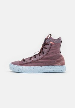 Converse - CHUCK TAYLOR ALL STAR CRATER - Korkeavartiset tennarit - red/black currant/bright coral