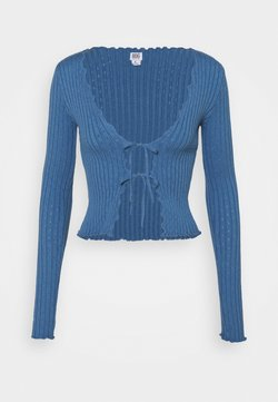 BDG Urban Outfitters - NOORI TIE FRONT - Gilet - blue