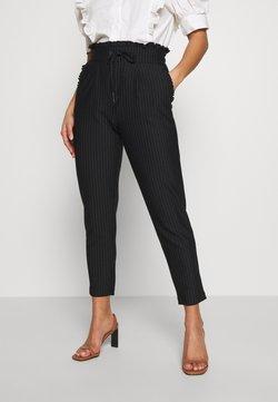 ONLY Petite - ONLPOPTRASH CLASSI PINSTRIPE FRILL - Spodnie materiałowe - black