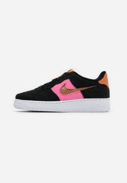 Nike Sportswear - AIR FORCE LV8 FRESH AIR - Sneaker low - black/orange trance/lotus pink/white