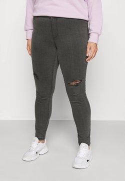 Vero Moda Curve - VMLUDY SLIM DESTR JEGGING CURVE NOOS - Jeans Skinny - black