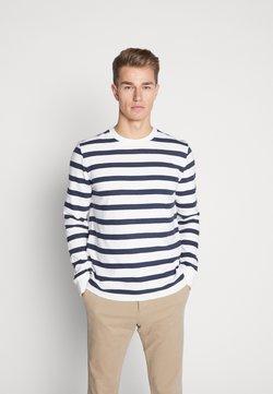 Marc O'Polo - LONG SLEEVE - Langarmshirt - white/blue
