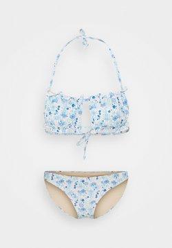 Cotton On Body - GATHERED BACKLESS BANDEAU GATHERED BUM FULL - Bikini - light blue