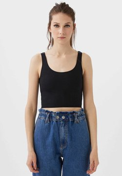 Stradivarius - CROPPED - Top - black